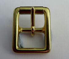 "SOLID BRASS MILITARY FULL ROLLER BUCKLE FOR 3/4"" (19mm)  STRAP"
