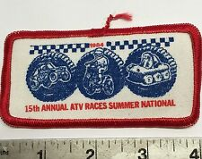 NATVA SUMMER NATIONAL CLOTH PATCH-1984  ATTEX,HUSTLER,MAX,SCRAMBLER