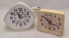 McGraw-Edison Electric Model 49-042, White and Sunbeam Alarm Clock , EUC