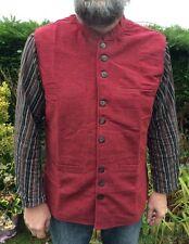 Mens Nehru Collar Waistcoat, Mandarin Grandad Kurta Long Style Waistcoat M - XXL