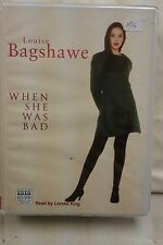 When She Was Bad by Louise Bagshawe: Unabridged Cassette Audiobook (M2)