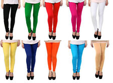 Combo pack of 10 Leggings for women,Cotton (Size L)