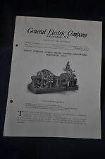 1907  DC Curtis Steam Turbine Generator Horizontal Type GE Bulletin