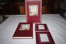 BEAUTIFUL GIFT SET VALENTINE PHOTO ALBUM AND 2 MATCHING FRAMES IN BOX