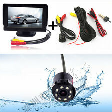 "Car Rearview 170°Wide Angle Infrared Night Vision Camera+4.3""LCD Display Monitor"