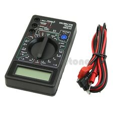 NEW Digital Multimeter with Buzzer Voltage Ampere Meter Test Probe DC AC LCD