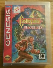 Sega Genesis Castlevania: Bloodlines- 100% Authentic & Plays Perfectly- Must See