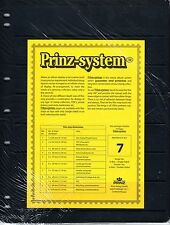 10 Prinz System 7 strip Single sided Pages stock sheet