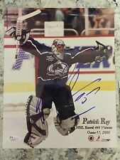 SIGNED OFFICIAL COLORADO AVALANCHE PATRICK ROY MONTREAL 8x10 Photo JSA 33