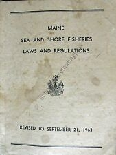 Maine Sea And Shore Fisheries Laws And Regulations 1963