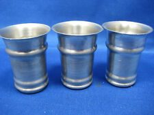 Lot of 3  Vintage  Made in Germany Pewter Shooters/Cups Engraved