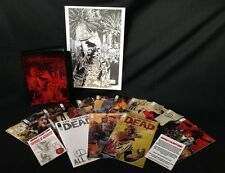 WALKING DEAD #115 10TH ANN BOX SET W/14 SIGNED COVERS BY ADLARD & A3 PRINT
