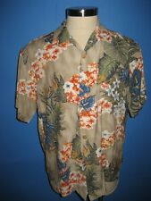 Toes on the Nose Birds of Paradise Rayon Hawaiian Camp Shirt M Mint