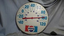 "Vintage 1970's 18"" Round Pepsi-Cola Advertising Thermometer Sign- Soda"