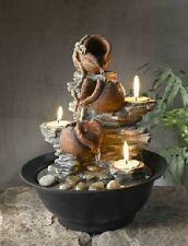 TABLETOP MINI WATER FALL FOUNTAIN POT CANDLE HOLDER INDOOR