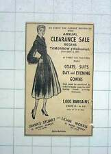 1951 Jeanne Stewart And Lilian Morris Womenswear Blackpool