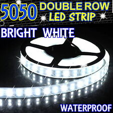 Dual Row 5M 600Led SMD 5050 Bright White LED Strip Light Silicon Tube Waterproof