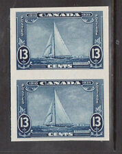 Canada #216P XF Imperf Proof Pair On Card