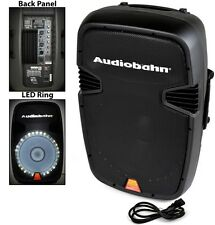 "AUDIOBAHN TORQ 15"" POWERED 2600W PRO DJ BLUETOOTH USB PA LED MIC SPEAKER"