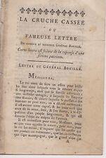 La Cruche Cassée ou Fameuse Lettre du Gal Bouillé & Réponse d'une Patriote.1791