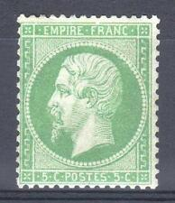 """FRANCE STAMP TIMBRE 20a """" NAPOLEON III 5c VERT FONCE 1862 """" NEUF xx A VOIR P597"""