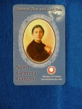 St Gemma Galgani 3rd class relic card Patron Saint for Those with Back Pain