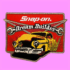 Snap On Dream Builder Motor Racing Hot Rod Tools Badge Embroidered Iron On Patch