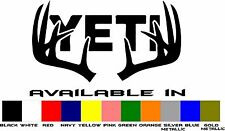 Yeti Cooler Vinyl Window Decal Sticker 4 Inch Deer Antlers Buy 2 Get 1 FREE