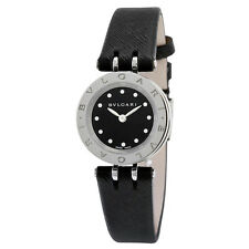 Bvlgari B.zero1 Black Dial Black Leather Strap Quartz Ladies Watch 102179