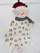 New Pottery Barn Kids Snowman Countdown Advent Calendar Christmas
