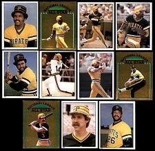 (44) PITTSBURGH PIRATES 1981 TOPPS STICKERS - NM/MT - PARKER, MADLOCK, GARNER