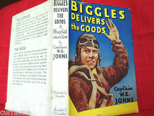 BIGGLES DELIVERS THE GOODS 1949  HCDJ Captain W.E. Johns illus by Stead