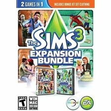 The Sims 3 Expansion Bundle (PC, 2013) Generations World Adventures