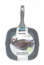 SALTER forgé alu marbre antiadhésif. colection poêle grill induction 28 cm gris de base