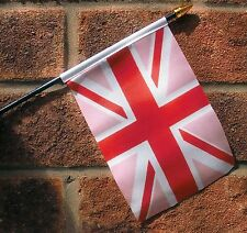 "UNION JACK PINK SMALL HAND WAVING FLAG 6""X4"" flags GAY PRIDE"