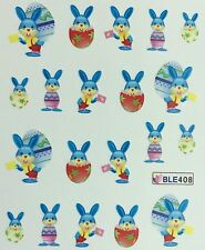 Nail Art Water Decals Easter Bunny Easter Eggs BLE408