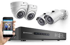 Amcrest 720P CCTV HDCVI Security Surveillance 4CH DVR 2 x Bullet 2 x Dome System