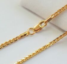 """J.Lee Pure 18K Yellow Gold Necklace Wheat Link Chain Necklace 5.65Grams 24"""" L"""