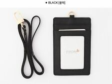 Window ID Card Holder Business Badge Necklace Leather Wallet Neck Strap Lanyard