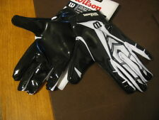 NEW WILSON MVP RECEIVER YOUTH LARGE BLACK/WHITE FOOTBALL GLOVES-WR,RB,DB, OR QB