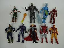 9 PCS The Avengers Captain America Thor Iron Man+ Action Figures US Hasbro - 4""