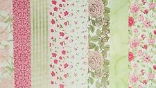 ASSORTED BACKING PAPER 6 X 6 SAMPLE PACK  ROSE GARDEN 1 SHEET OF EACH DESIGN