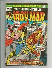IRON MAN #66  VG+ VERY GOOD+ OW/ WHITE PAGES BRONZE AGE MARVEL COMICS 1974