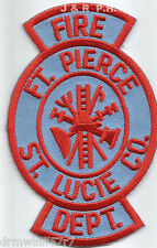 "Ft. Pierce / St. Lucie County, FL  (2.5"" x 4"" size) fire patch"