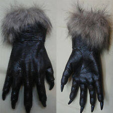 Halloween Cosplay Horror Devil Werewolf Wolf Paws Claws Hand Gloves Monster Cost