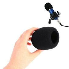 For Karaoke DJ KTV Stage Handheld Microphone Windscreen Foam Mic Cover Black H17