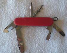 Swiss Elinox 4-Blade Folding Knife + Pick & Corkscrew - NICE - FREE SHIPPING