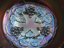 Carnival Glass.Dugan Marigold Golden Grapes Rosebowl.Unusual Pattern.VGC.