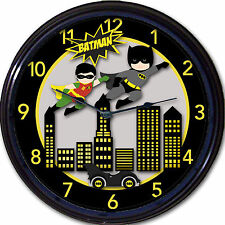 Batman & Robin Batmobile Wall Clock Classic Comics Super Heroes Gotham DC New