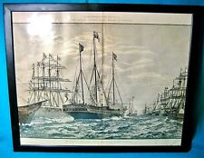 Queen Victoria 1887 Naval Review Jubilee Spithead ILLUSTRATED LONDON NEWSPAPER